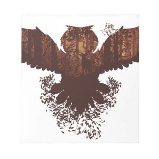 Owl and Autumn Forest Landscape Notepads