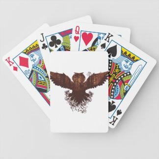 Owl and Autumn Forest Landscape Poker Deck