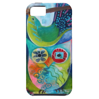 Owl and Bird Art Painting iphone Case