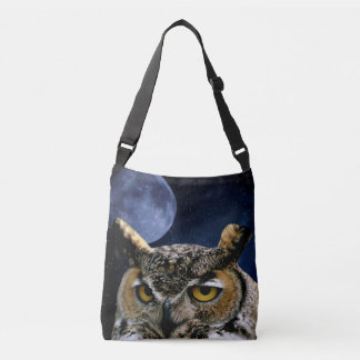 Owl and Blue Moon Crossbody Bag