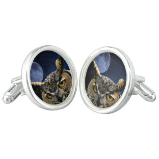 Owl and Blue Moon Cufflinks