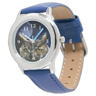 Owl and Blue Moon Wrist Watch