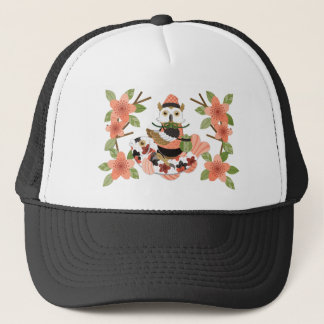 Owl and carp /An owl and a carp Trucker Hat