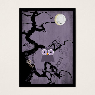 Owl and Creepy Gnarled Tree for Halloween