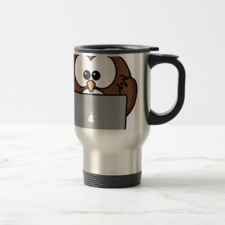 Owl and its Mac Travel Mug
