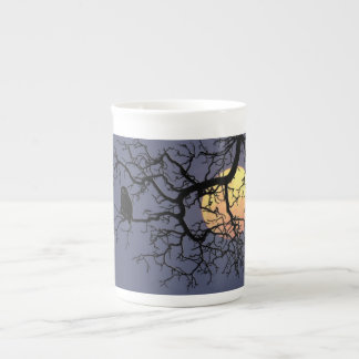 Owl and Moon Specialty Bone China Mug