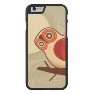 Owl And Moonlight Carved Maple iPhone 6 Case