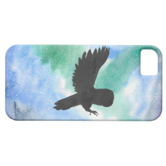 Owl And Northern Lights Case For The iPhone 5