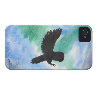 Owl And Northern Lights iPhone 4 Cases