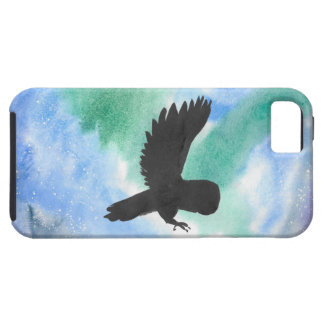 Owl And Northern Lights Tough iPhone 5 Case