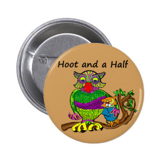 Owl and Owlet 6 Cm Round Badge