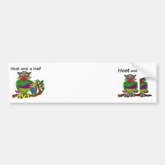 Owl and Owlet Bumper Sticker
