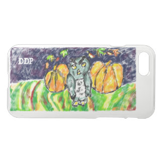 owl and pumpkin art iPhone 8/7 case