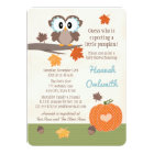 Owl and Pumpkin Baby Shower Invitations
