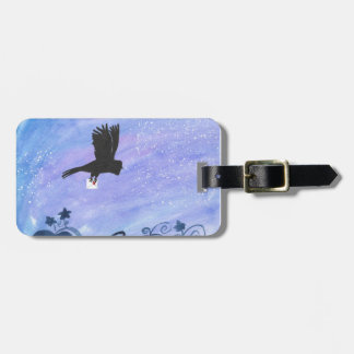 Owl And Pumpkin Patch Luggage Tag