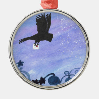 Owl And Pumpkin Patch Metal Ornament