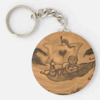 Owl and Pussy Cat boat Ride Key Chains