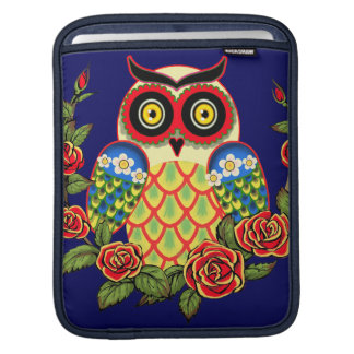 Owl and Roses Mexican style Sleeves For iPads