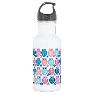 Owl and Spots Design 532 Ml Water Bottle