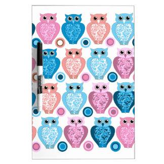 Owl and Spots Design Dry Erase White Board