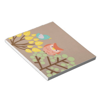 owl and trees notebook notepad