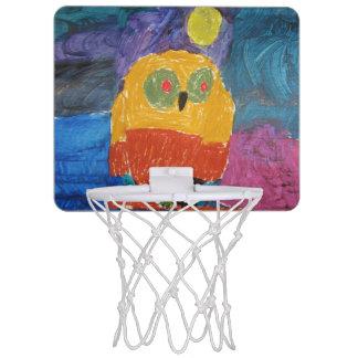 Owl Art by Kids Mini Basketball Hoop