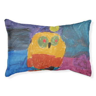 Owl Art by Kids Pet Bed