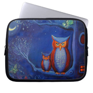 "Owl Art ""The Forest At Night"" Laptop Case"