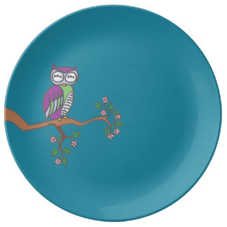 Owl at Night Plate
