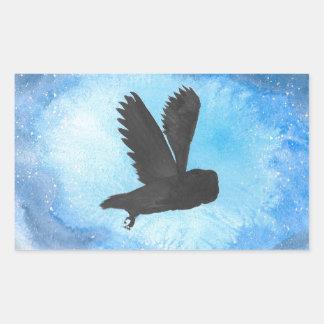 Owl At Night Rectangular Sticker