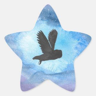 Owl At Night Star Sticker