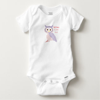 Owl baby body suite baby onesie