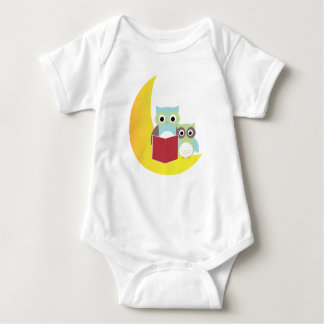 Owl Baby Clothing- Owls Reading Book Baby Bodysuit