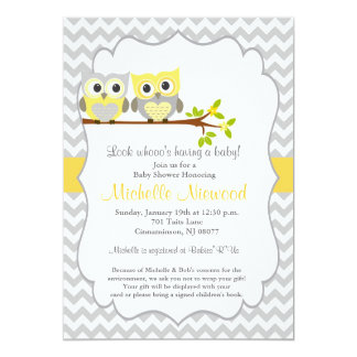 Beautiful Owl Baby Shower Invitation