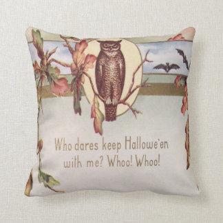 Owl Bat Autumn Fall Color Leaves Leaf Cushions