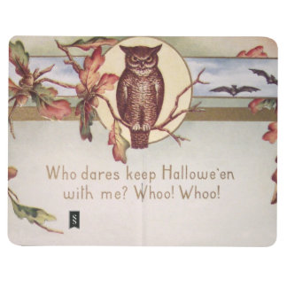 Owl Bat Autumn Fall Color Leaves Leaf Journal