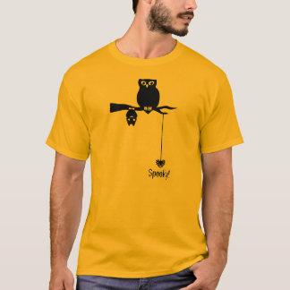 Owl-Bat-Spider Spooky Halloween T-Shirt