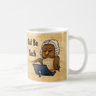 Owl Be Bach Funny Owl Cartoon Coffee Mug
