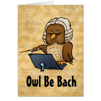 Owl Be Back Funny Blank Inside Greeting Card
