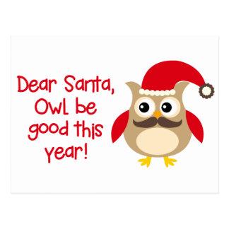 Owl Be Good Postcard