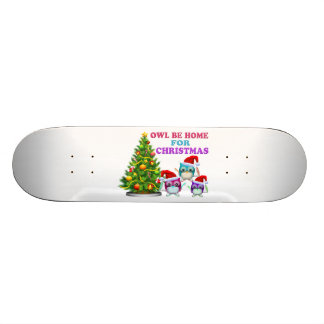 Owl Be Home For Christmas Skate Board Decks