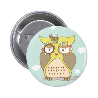 Owl Be Missing You 6 Cm Round Badge