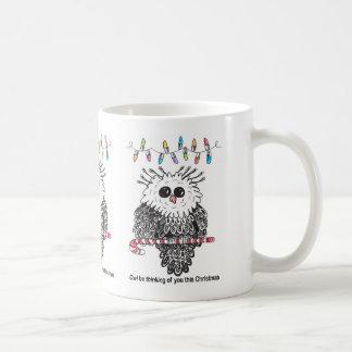 Owl Be Thinking of You this Christmas Mug