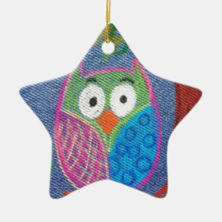 Owl be waiting ceramic star decoration