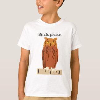 Owl Birch Please Youth Tshirt