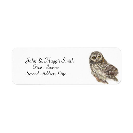 Owl, Bird Collection Return Address Label
