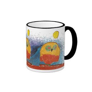 Owl Bird kid's art Coffee Mugs