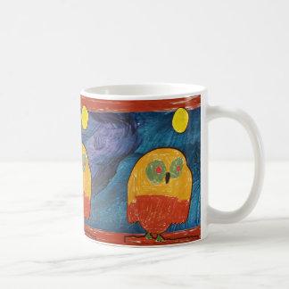 Owl Bird kid's art Mugs
