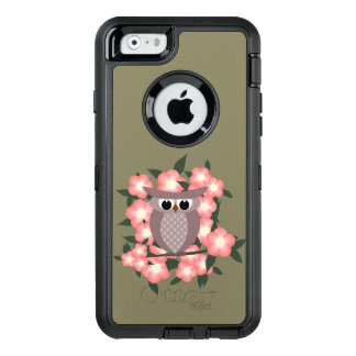 owl bird on a cherry tree OtterBox iPhone 6/6s case