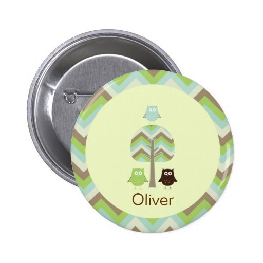 Owl Birthday Button